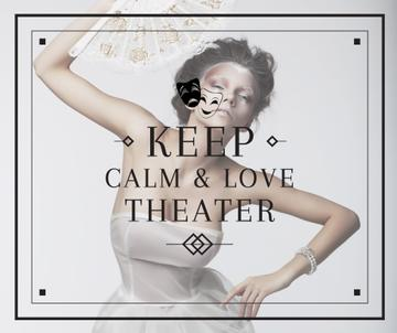 Theater Quote Woman Performing in White | Facebook Post Template