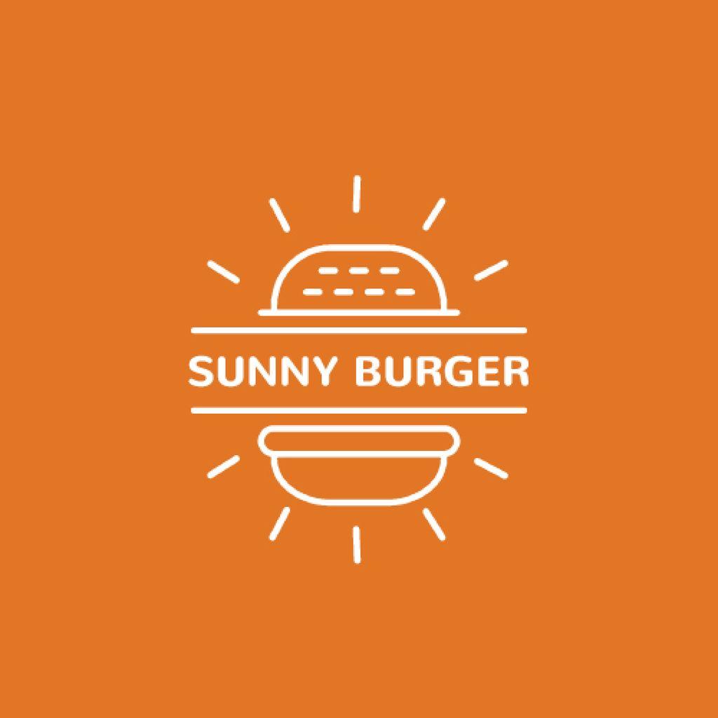 Fast Food Ad with Burger in Orange — Créer un visuel