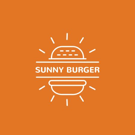 Ontwerpsjabloon van Animated Logo van Fast Food Ad with Burger in Orange