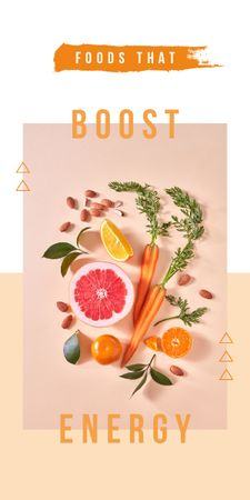 Plantilla de diseño de Raw vegetables and fruits Graphic