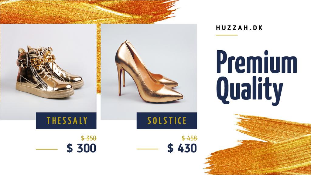 Shoes Shop Offer Golden Pairs — Modelo de projeto