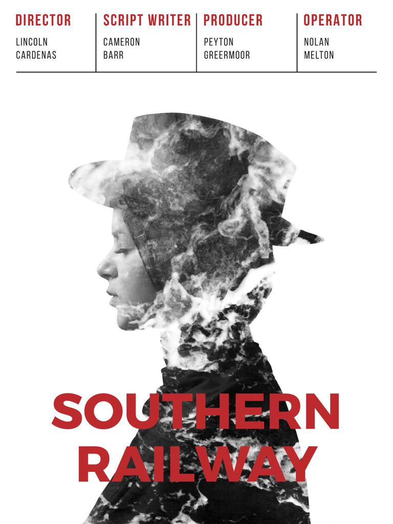 southern railway movie poster poster us template design online