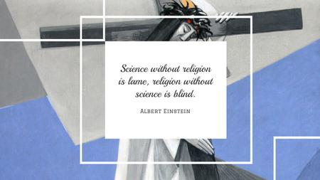 Citation about science and religion Youtube Modelo de Design