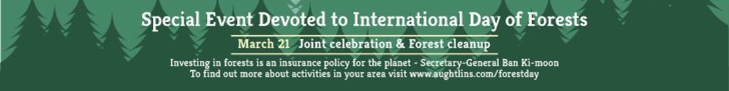 Designvorlage Special Event devoted to International Day of Forests für Leaderboard