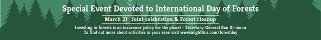Special Event devoted to International Day of Forests Leaderboard Design Template