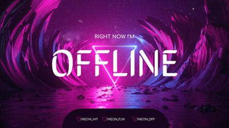 Plantilla de diseño de Game Stream Ad with Surreal Space Twitch Offline Banner