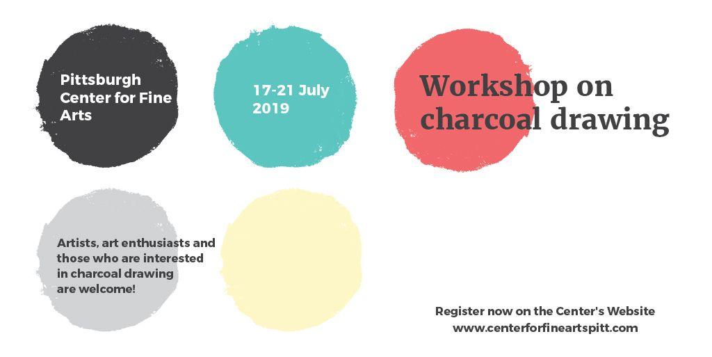Workshop on Charcoal drawing Announcement — Maak een ontwerp