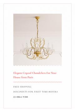 Elegant Crystal Chandelier Offer in White | Tumblr Graphics Template