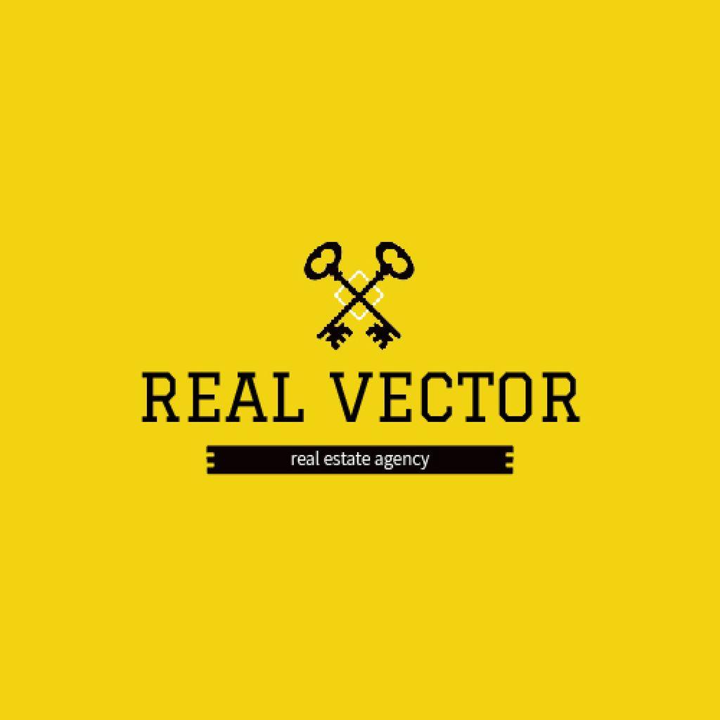 Real Estate Agency Ad Keys Icon - Bir Tasarım Oluşturun