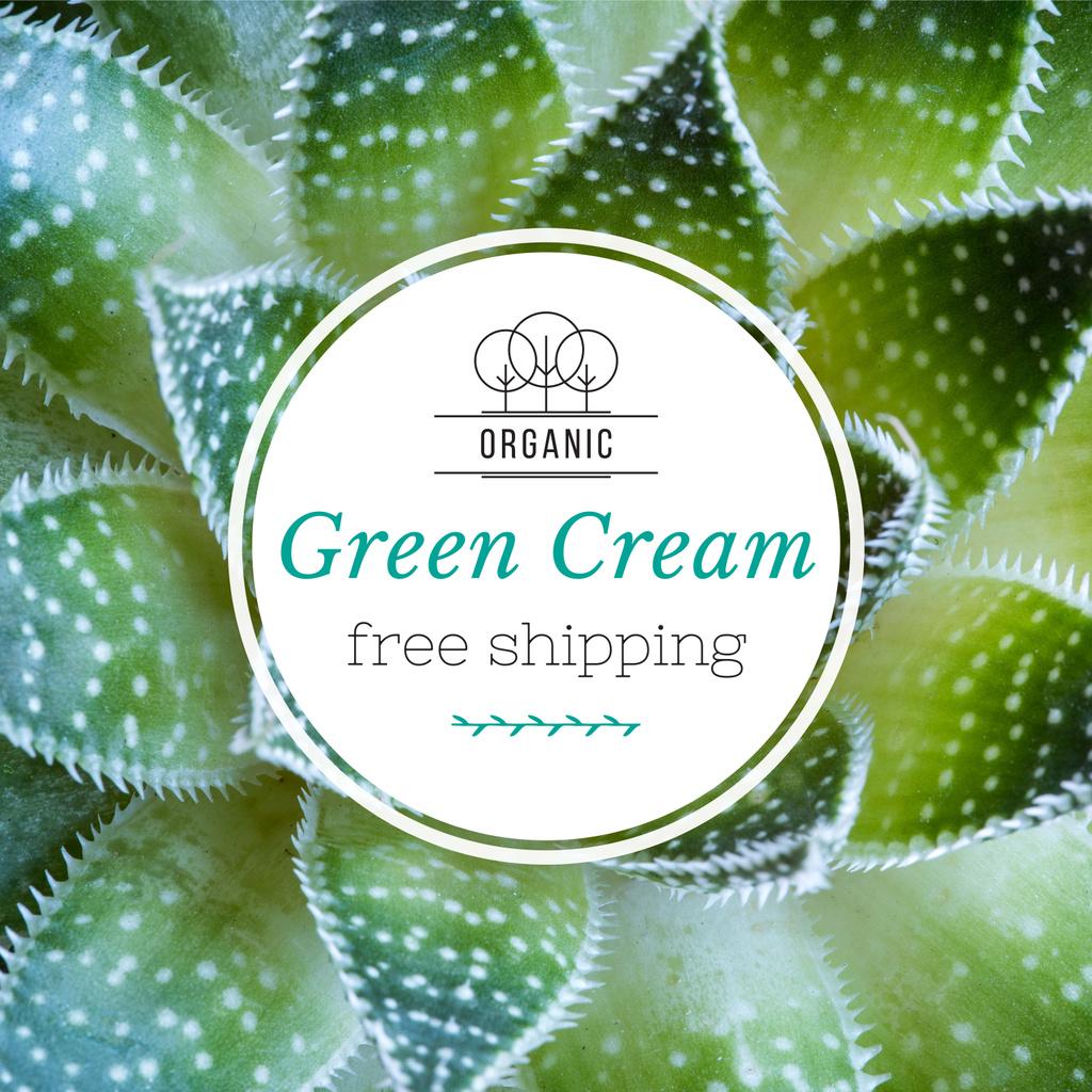 Green cream advertisement — ein Design erstellen