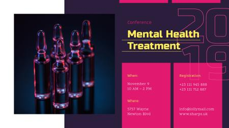 Plantilla de diseño de Healthcare Conference announcement Glass Ampoules with Medicine FB event cover