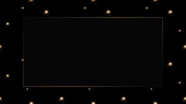 Modèle de visuel Gold frame with Starry Sky background - Zoom Background