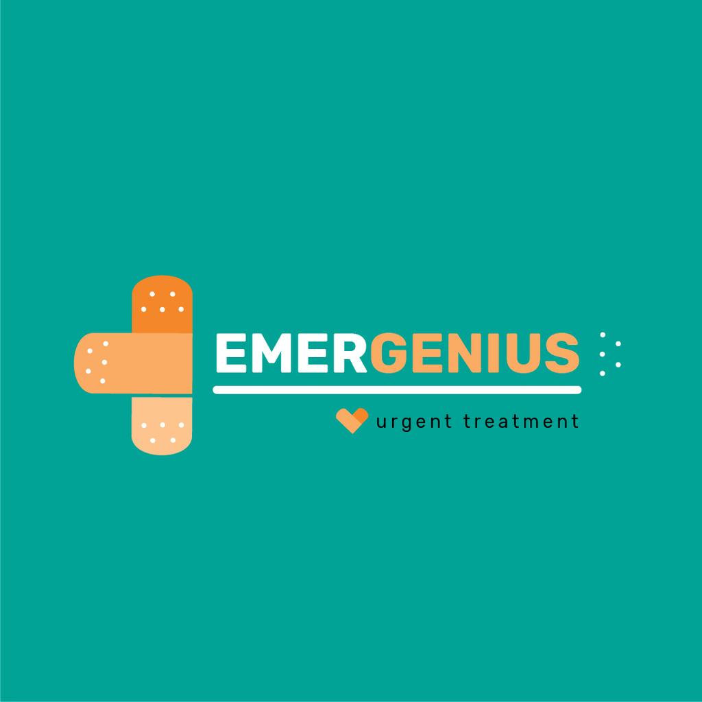 Template di design Emergency Treatment Band Aid Cross Logo