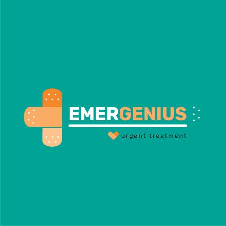 Emergency Treatment Band Aid Cross Logo Modelo de Design