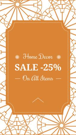 Plantilla de diseño de Home decor sale ad with floral texture Instagram Story