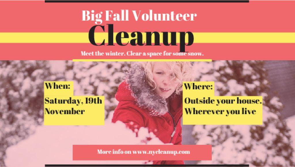 Woman at Winter Volunteer clean up — Crear un diseño