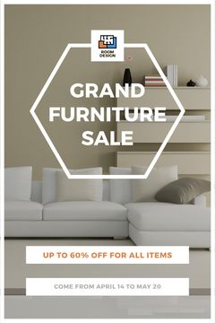 Furniture Sale Modern Interior in Light Colors | Tumblr Graphics Template