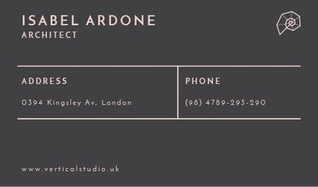 Architect Contacts Information Business card Tasarım Şablonu