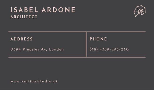 Architect Contacts Information Business card Tasarım Şablonu