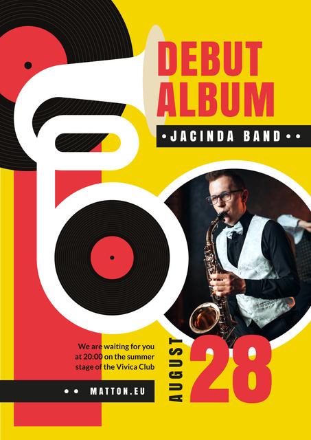 Modèle de visuel Musician plying at Jazz Band Concert - Flayer