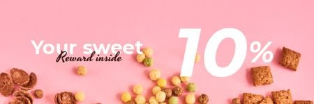 Ontwerpsjabloon van Email header van Cereals Offer in pink