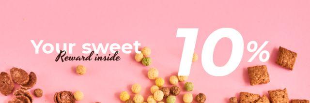 Plantilla de diseño de Cereals Offer in pink Email header