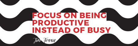 Plantilla de diseño de Citation about productivity for everyone Email header