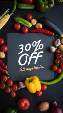 Food Sale in vegetables frame
