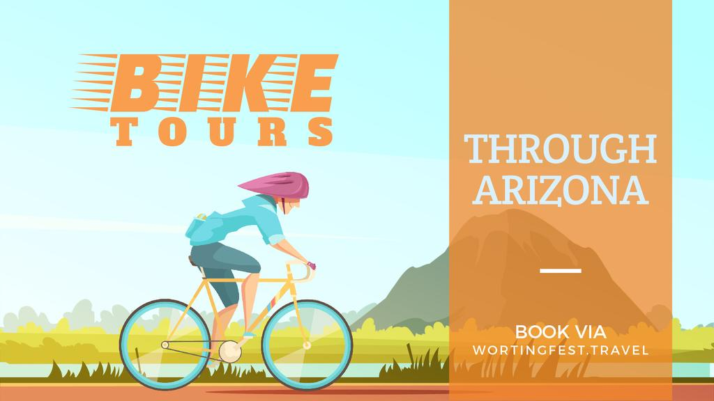 Bike Tour Offer Cyclist Riding in Nature | Full Hd Video Template — Создать дизайн