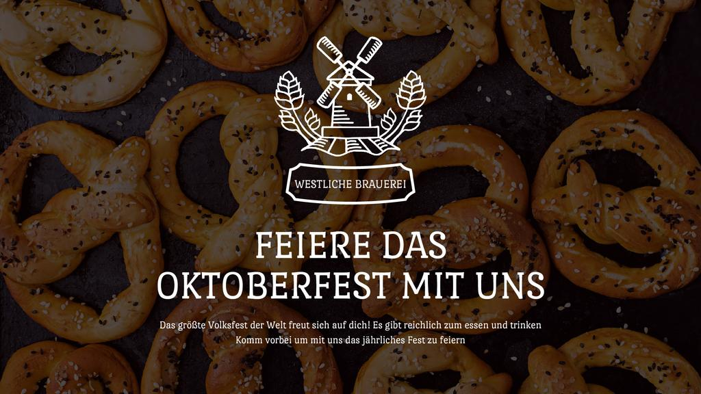 Oktoberfest Offer Pretzels with Sesame — ein Design erstellen