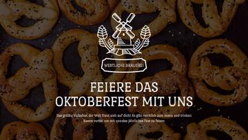 Oktoberfest Offer Pretzels with Sesame | Full Hd Video Template