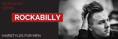 Template di design Rockabilly workshop series Email header
