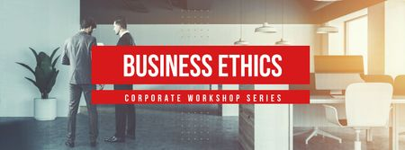Business ethics corporate workshop series Facebook coverデザインテンプレート