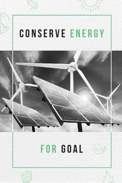 Green Energy Wind Turbines and Solar Panels | Tumblr Graphics Template