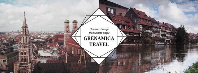 Modèle de visuel Special Tour Offer to Germany - Facebook Video cover