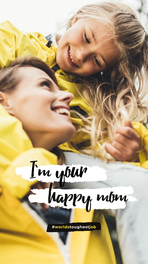 Smiling girl with her mother — Créer un visuel
