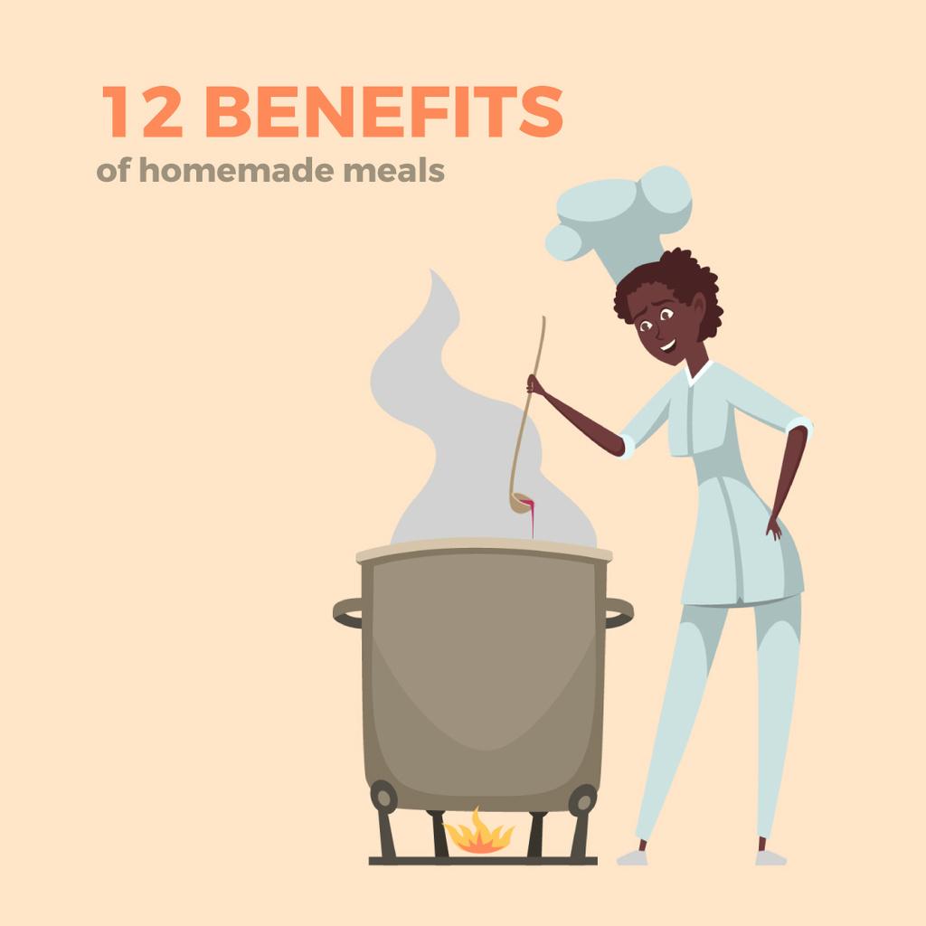 Chef cooking on fire — Créer un visuel