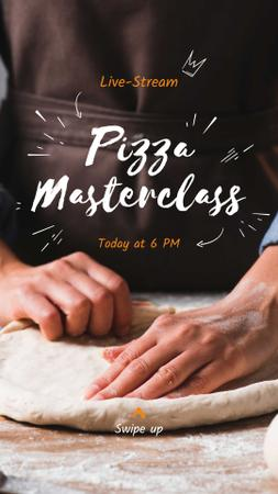 Template di design Live Stream of Pizza Masterclass Ad Instagram Story