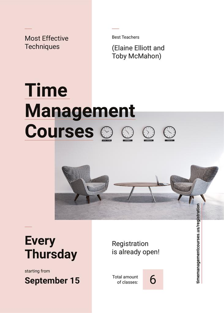 Business courses ad with conference room — Maak een ontwerp