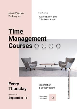 Business courses ad with conference room Invitation Modelo de Design