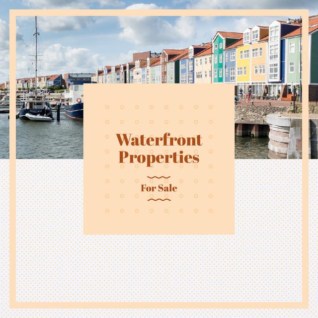 Template di design Real Estate Ad with Houses at sea coastline Instagram