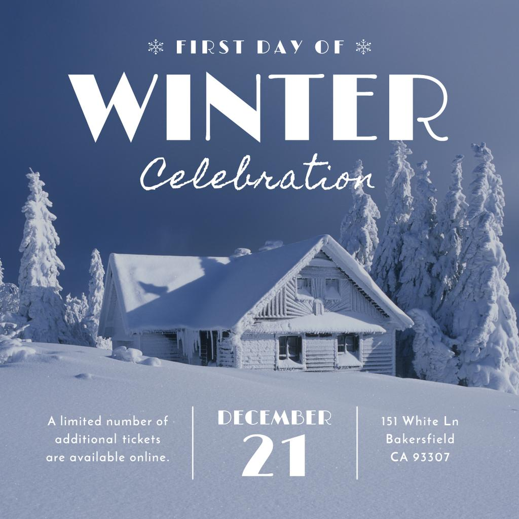 Advertisement poster of first day of winter celebration  — Створити дизайн