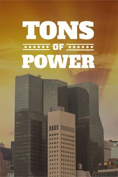 Tons of power text with skyscrapers