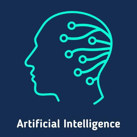 Szablon projektu Artificial intelligence icon Animated Post