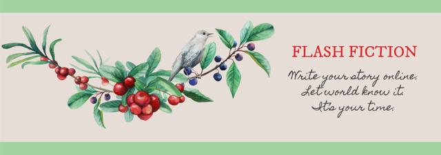 Writing Inspiration Quote Bird on a Branch Tumblr Modelo de Design