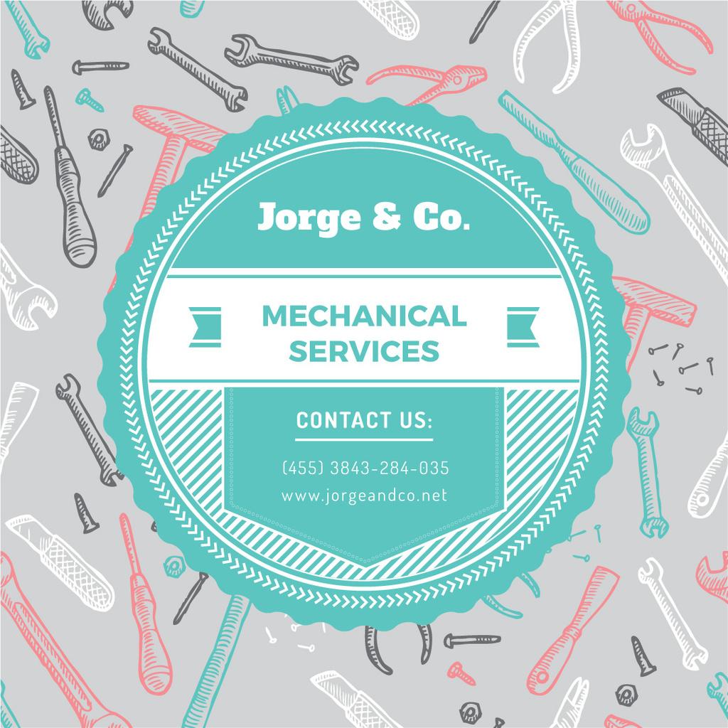 Mechanical services advertisement — Modelo de projeto