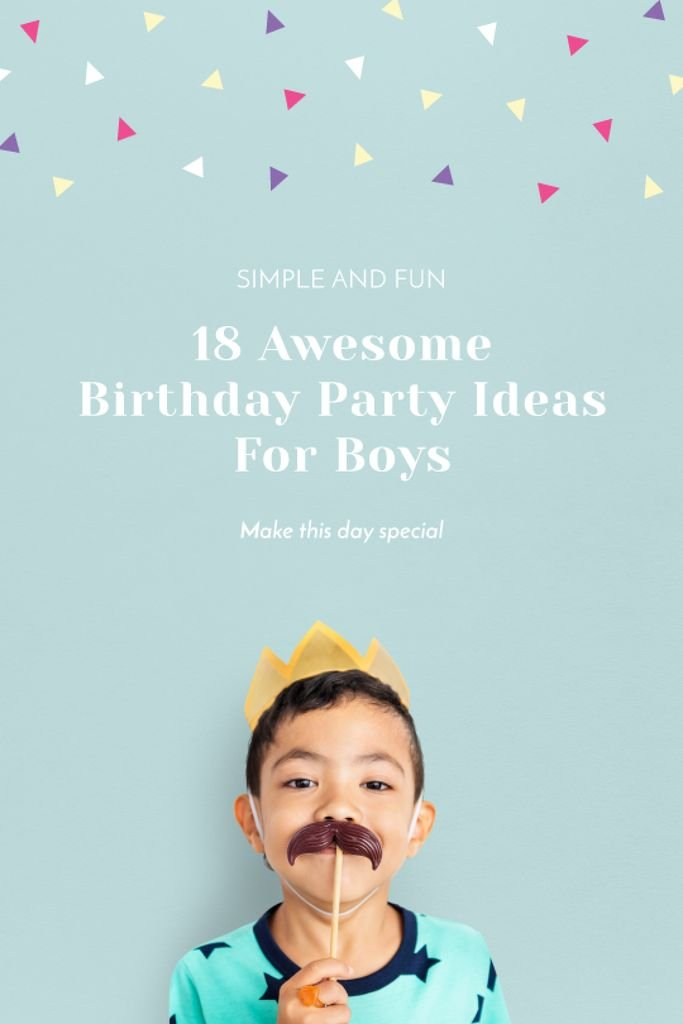 Boy in crown and mustache mask — Create a Design