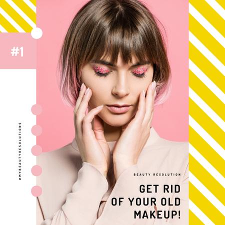 Template di design Woman with Creative Makeup Animated Post