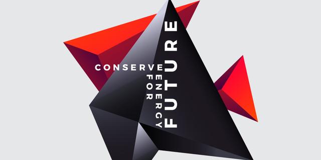 Ontwerpsjabloon van Twitter van Concept of Conserve energy for future