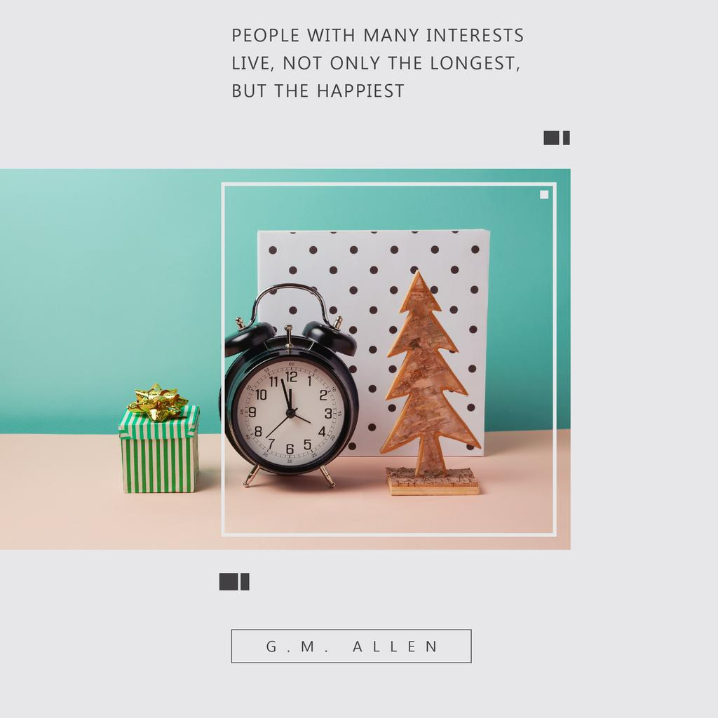 Szablon projektu Citation about people with many interests Instagram